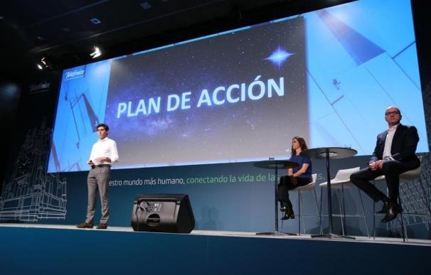 Rueda de prensa del plan de acción de Telefónica