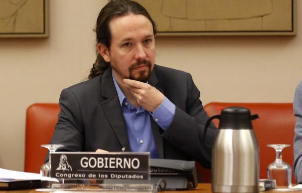 Pablo iglesias comparece ante Comisión de derechos sociales y políticas activas de discapacidad. /EFE