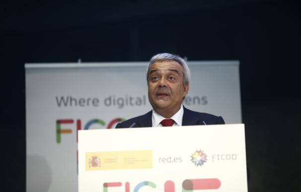El secretario de Estado de Telecomunicaciones, Víctor Calvo-Sotelo, participa en el Foro Internacional de Contenidos Digitales, en el Auditorio Rafael del Pino