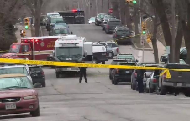 La escena del tiroteo en la ciudad de Milwaukee . /L.I.
