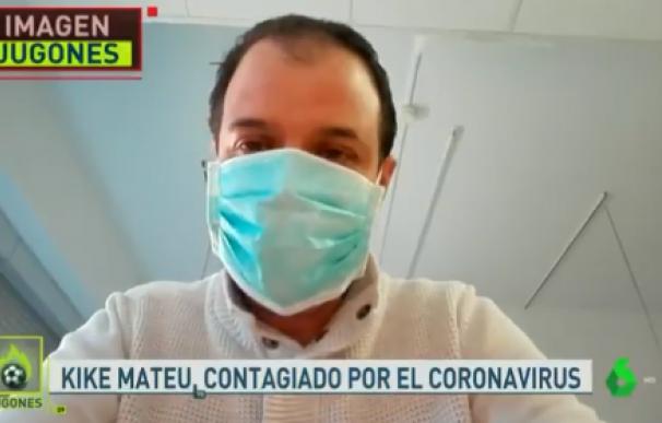 Fotografía de Kike Mateu, periodista de 'El Chiringuuito0 infectado por el coronavirus.
