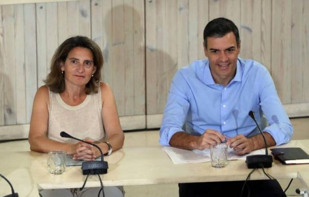 Teresa Ribera y Pedro Sánchez