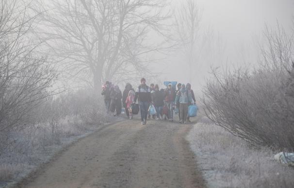 Refugiados en la frontera greco-turca