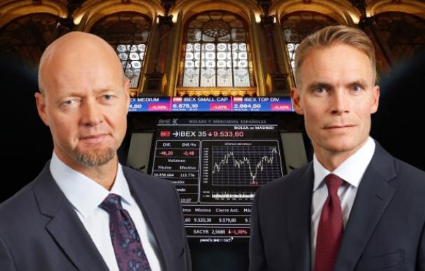 Yngve Slyngstad y Trond Grande, responsables del fondo noruego.