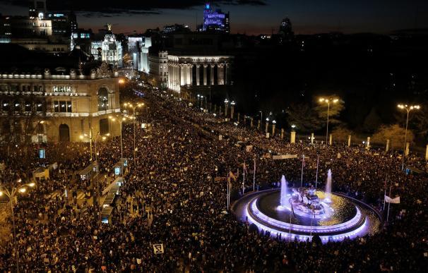 Las mujeres llenan Madrid por el 8-M