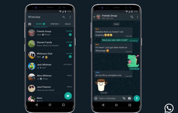 Modo oscuro en WhatsApp