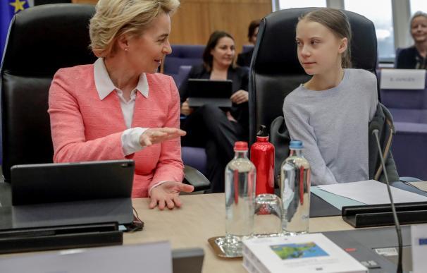 Greta en la UE. / EFE