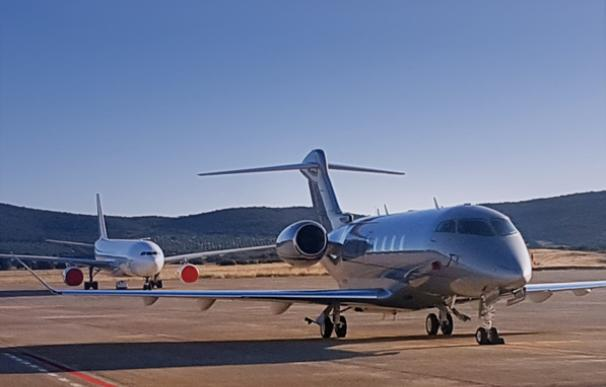 El aeropuerto de Ciudad Real resucita con los jets privados de cazadores y empresarios