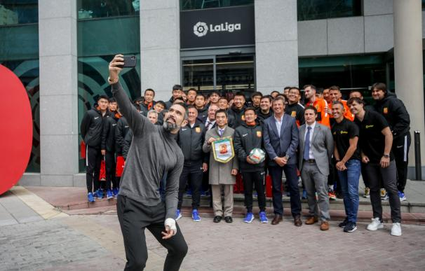 El Wuhan Zall, equipo de fútbol chino atrapado en España