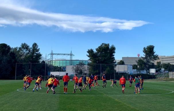 Un entrenamiento de rugby en el CAR de Sant Cugat.