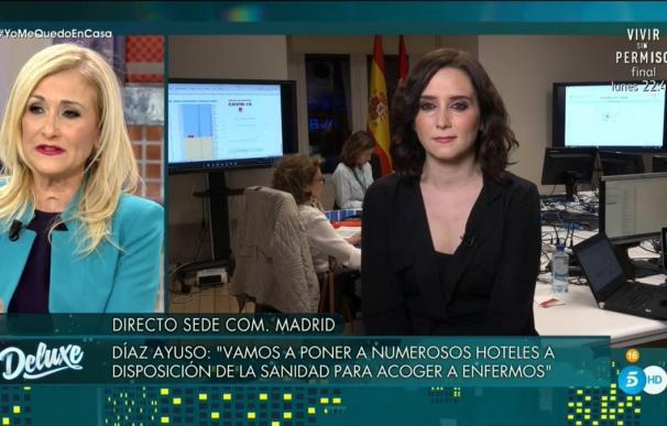 El esperado reencuentro de Díaz Ayuso y Cristina Cifuentes en 'Sábado Deluxe'