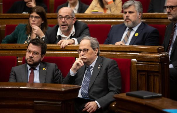 Pere Aragonès y Quim Torra