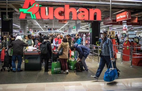 Fotografía de un supermercado en París durante la crisis del coronavirus.