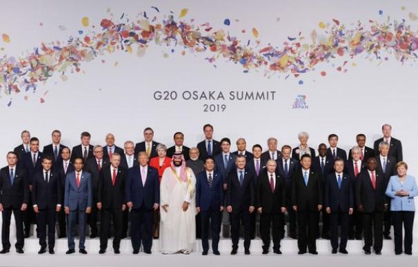 Foto de familia de los participantes en el G20. / G20