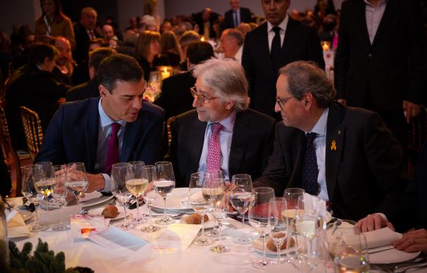 Pedro Sánchez, Josep Sánchez Llibre Y Quim Torra