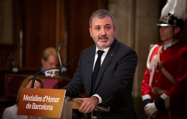 El primer teniente de alcalde del Ayuntamiento de Barcelona, Jaume Collboni, durante su intervención en el acto de entrega de las Medalles d'Honor de la ciudad de Barcelona, en Barcelona a 26 de noviembre de 2019.