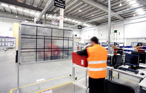 El centro logístico de Amazon en San Fernando de Henares (Madrid).