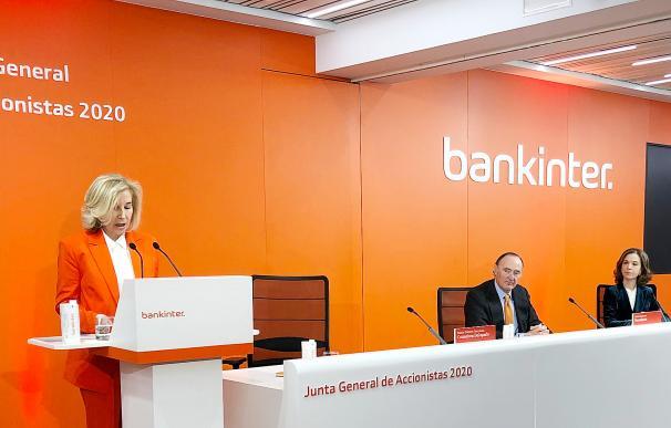 María Dolores Dancausa, CEO de Bankinter, en la junta de accionistas del pasado viernes.