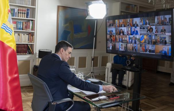 Sánchez videoconferencia presidentes autonómicos