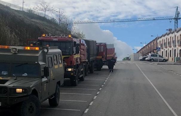 La UME desinfecta el pueblo de Alcalá del Valle (Cádiz) tras 20 casos en un centro