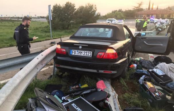 Prisión coche fugado frontera Huesca