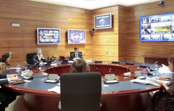 Consejo de ministros celebrado en el búnker de Moncloa