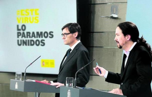 Fotografía Salvador Illa y Pablo Iglesias / EFE