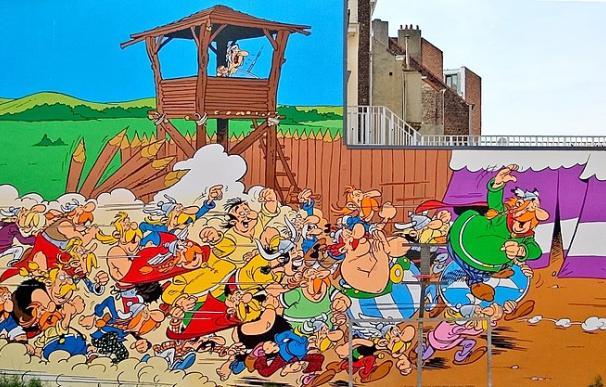 Fotografía de los cómics de 'Astérix y Obélix'. Su dibujante, Albert Uderzo, ha fallecido este martes.