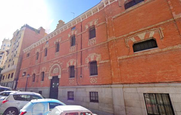 Fachada del edificio okupado,propiedad del ministerio de Justicia.