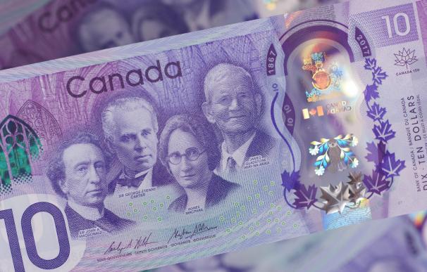 Billete conmemorativo del Banco de Canadá. /L.I.