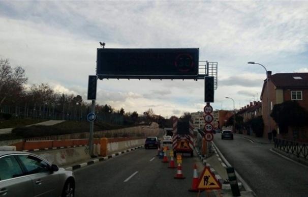 Un túnel afectado por obras en Madrid