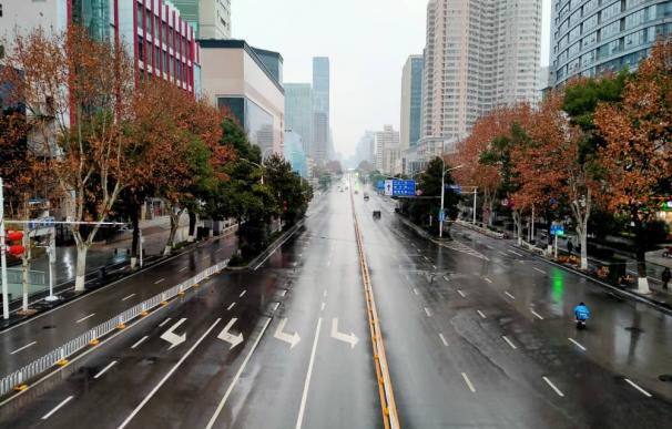 Las calles de Wuhan. / Cedida