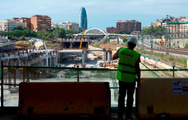 Fotografía obras ADIF La Sagrera (Barcelona) / EFE