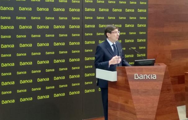 El presidente de Bankia, José Ignacio Goirigolzarri, durante la presentación de resultados de 2019.