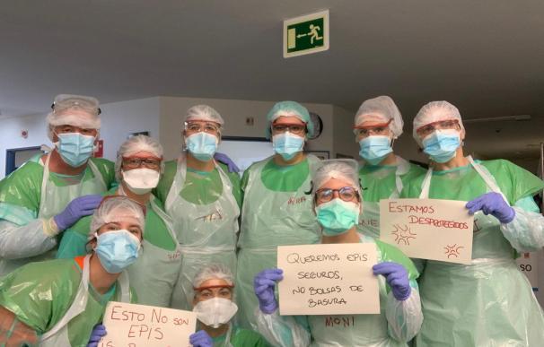 Los sanitarios españoles piden equipos de protección