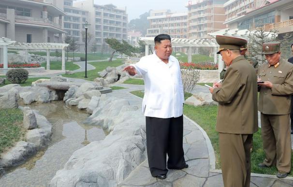 Kim Jong-un, en su visita al resort de Corea del Sur