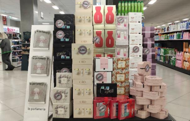 Sección de perfumería de Mercadona