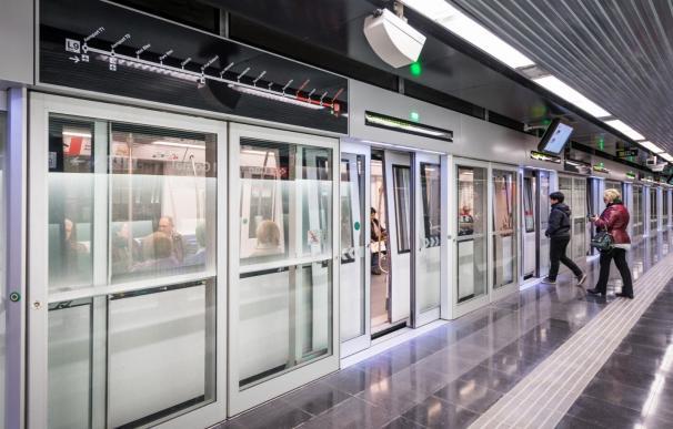 Andén de la L9 del Metro de Barcelona