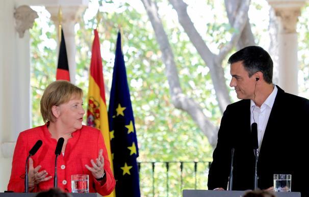 Merkel y Sánchez, en Doñana