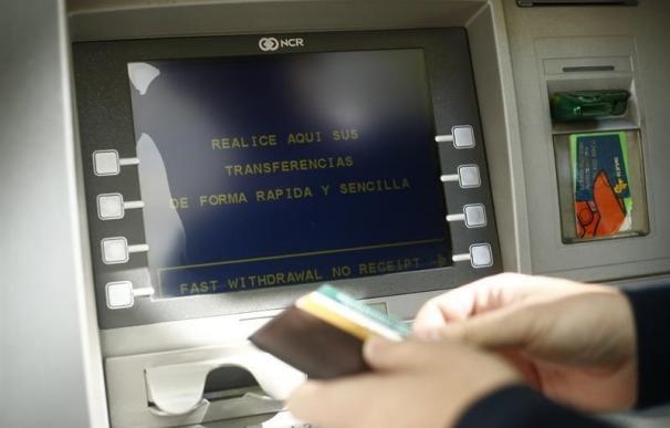 Foto de archivo de un cajero automático