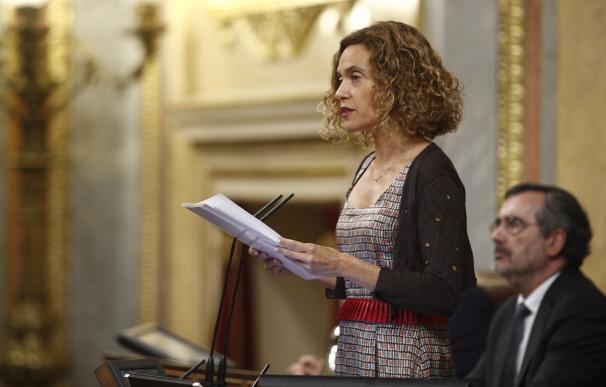 Meritxell Batet en el Congreso de los Diputados, homenaje víctimas ETA