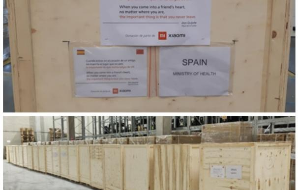 Xiaomi entrega mascarillas a España para luchar contra el coronavirus