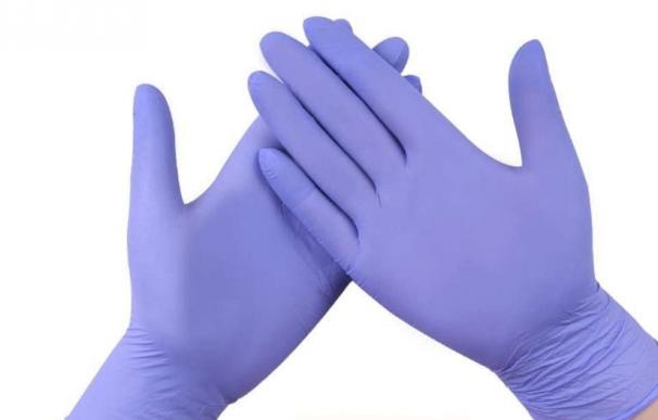 Fotografía de guantes de nitrilo, una alternativa para los alérgicos al látex.