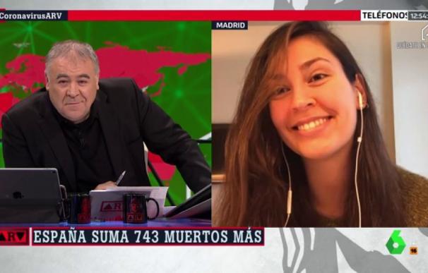 Clara durante la entrevista con Antonio García Ferreras. /La Sexta