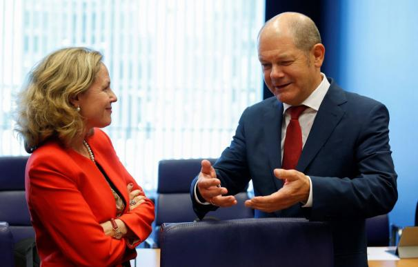 Nadia Calviño y Olaf Scholz / EFE