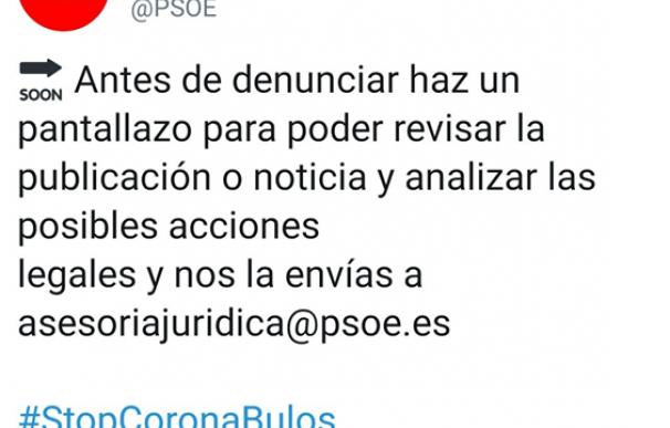 El PSOE pedía denuncuar las noticias falsas