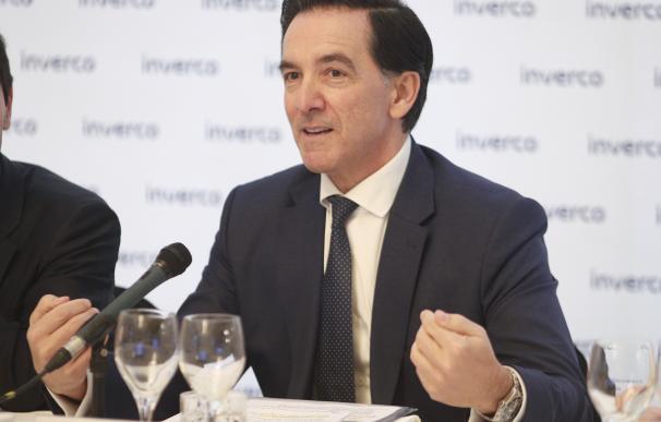 El presidente de Inverco, Ángel Martínez-Aldama durante la presentación de las previsiones para los fondos y planes de pensiones para 2020 de la patronal Inverco, en Madrid (España), a 12 de febrero de 2020.