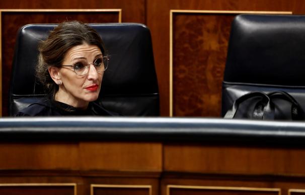 La ministra de Trabajo, Yolanda Díaz, en el Congreso