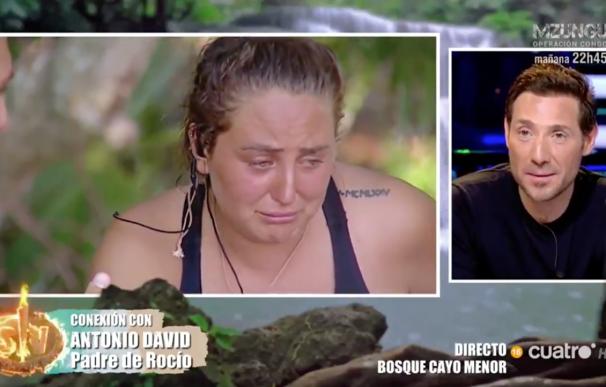 Rocío Flores se emociona en 'Supervivientes'. /L.I.