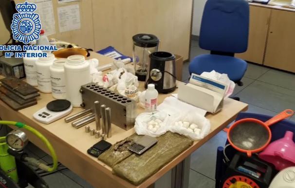 Laboratorio de cocaína en un trastero de Alcorcón
